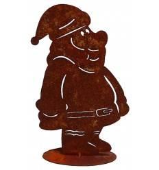 Edelrost Figur Nikolaus Höhe 30 cm, auf Platte