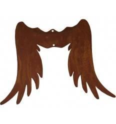 Engelsflügel aus Edelrost - Gr. 0 - Höhe 15 cm - zum Holzengel basteln