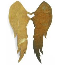 Engelsflügel aus Edelrost zum Einhängen in Vasen und Gläser bis 1cm Rand - lang - Höhe 28 cm, max. Breite 24 cm