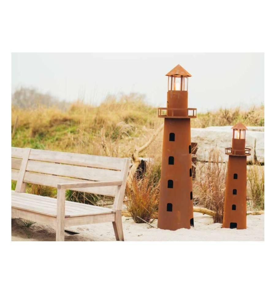 Deko leuchtturm h he 116 cm inkl vorrichtung f r for Romantische gartendeko