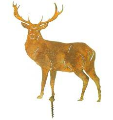 Hirsch klein mit Schraube Gesamthöhe 15,5cm