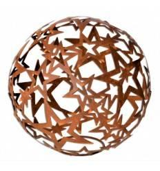 Sternkugel aus Edelrost gross - offene Sterne, Ø 68 cm