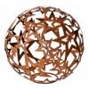 Sternkugel aus Metall mit Edelrostpatina gross, aus offenen Sternen geschweisst, Ø 68 cm
