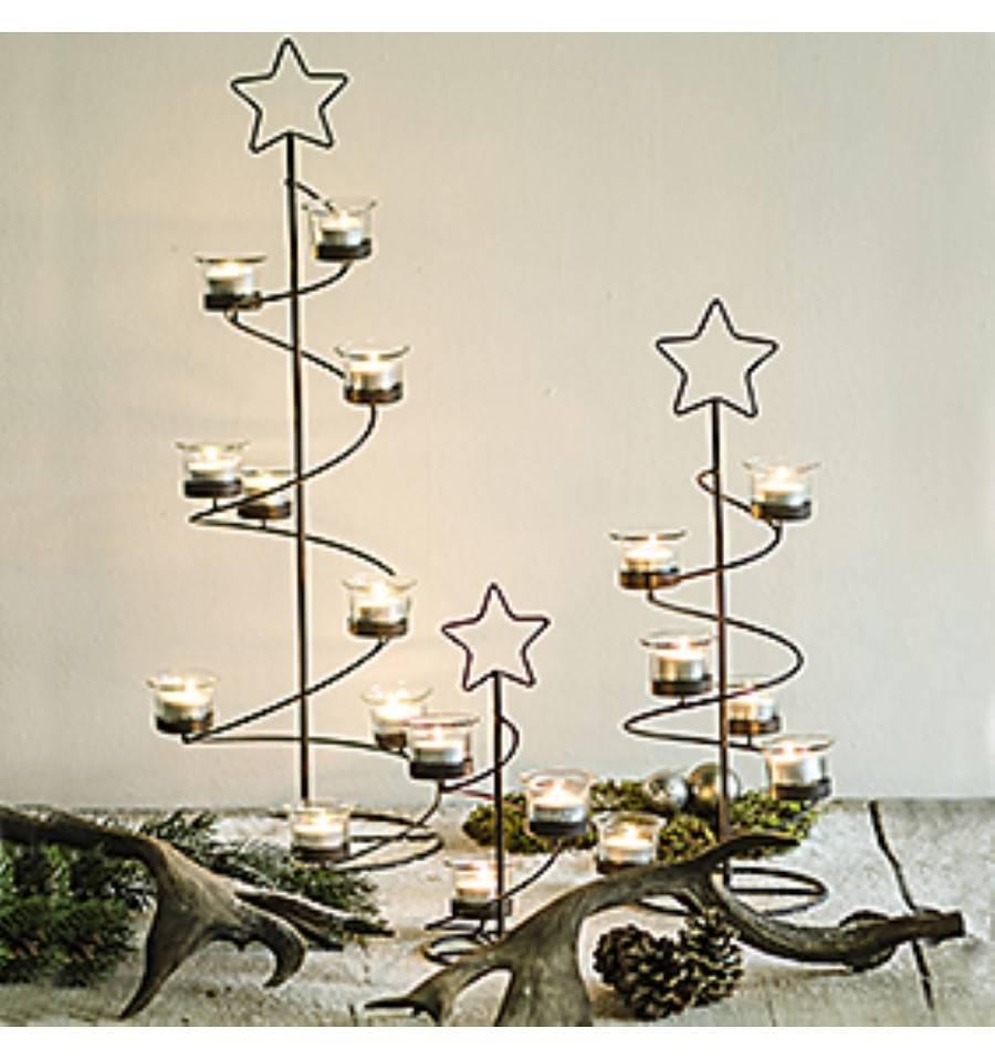 metall weihnachtsbaum inkl teelichthalter online kaufen. Black Bedroom Furniture Sets. Home Design Ideas