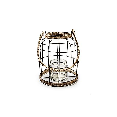 deko laterne aus metall mit kerzenglas g nstig kaufen. Black Bedroom Furniture Sets. Home Design Ideas