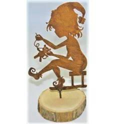 Zwergenkind als Baumstecker - Höhe 15,5 cm