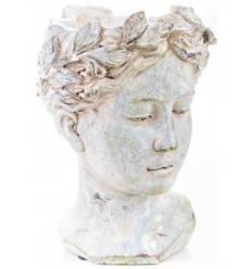 Pflanztopf italienische Büste aus Keramik klein - Höhe 21,5 cm