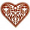 Deko Herz Metall mit Ornament Ausschnitten