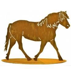 Pferd auf Platte Höhe 75 cm Breite 100 cm