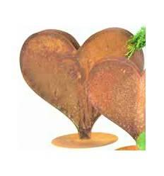 Herz dick auf Platte 29 cm