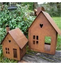 Haus aus Edelrost zum Stellen -klein