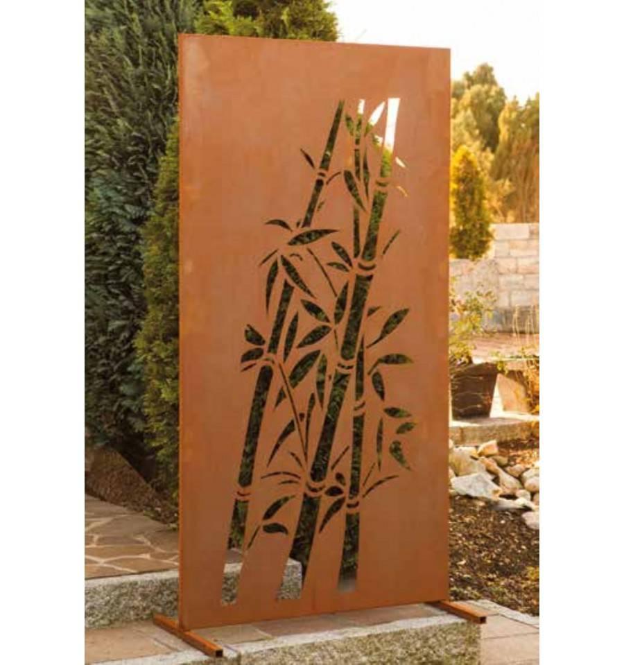 Garten Sichtschutzzaun Mit Motiv Bambus Aus Edelrost Gunstig Kaufen