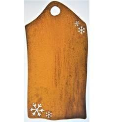Blanko Rostschild Groß Motiv -Schneeflocken- 50 x 25 cm- Blechschild