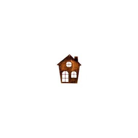"""Wandbild """"kleines Haus"""" zum Hängen aus Edelrost"""