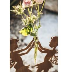 tanzende Deko Feen Höhe 40 cm - Feentanz inkl. Reagenzglas für Blumen