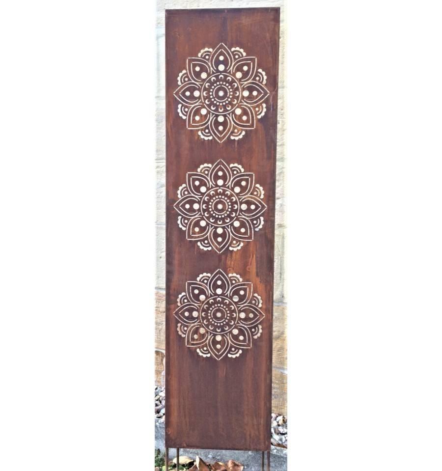 Rost Metall Sichtschutz Mandala Hohe X Breite 140 X 35 Cm