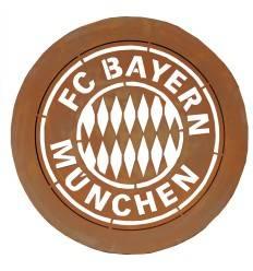 FC Bayern Wandbild mit Bayern Logo Ø 50 cm - FCB Wanddeko 3D