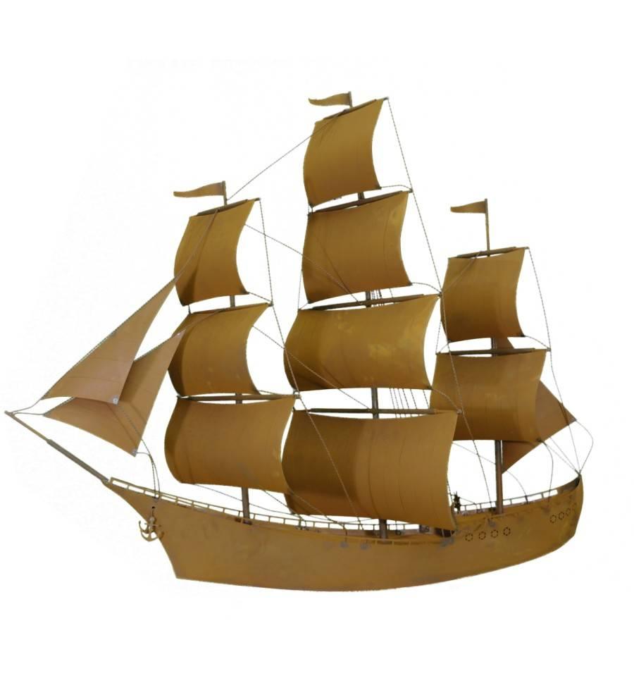 Deko segelschiff aus metall princess h he 125 cm for Romantische gartendeko