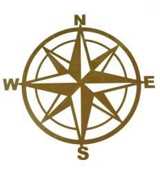 """Edelrost Wandbild """"Kompass"""" Höhe 51 cm"""
