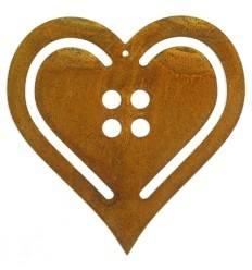 Deko Herz im Knopfdesign zum Aufhängen groß - Höhe 25 cm