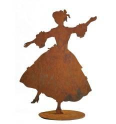 """Dekofigur Tänzerin """"Anne"""" mit ausgestreckten Armen im Barock Stil - Höhe 27 cm"""