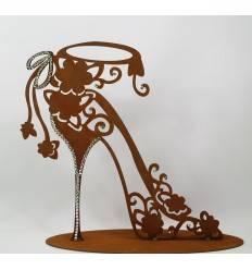 """Deko Schuhe """"High Heel"""" mit Glitzer Strass-Steinen - Höhe 30 cm"""