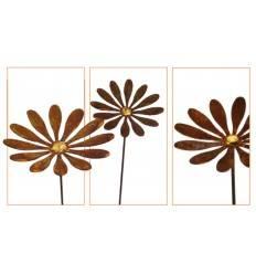 """Edelrost Daisy"""" mit Goldpunkt Ø 18 cm"""