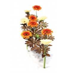 """Tischdeko Ständer """"Daisy"""" 70 cm lang inkl. 12 Reagenzgläser / mit Goldpunkten"""
