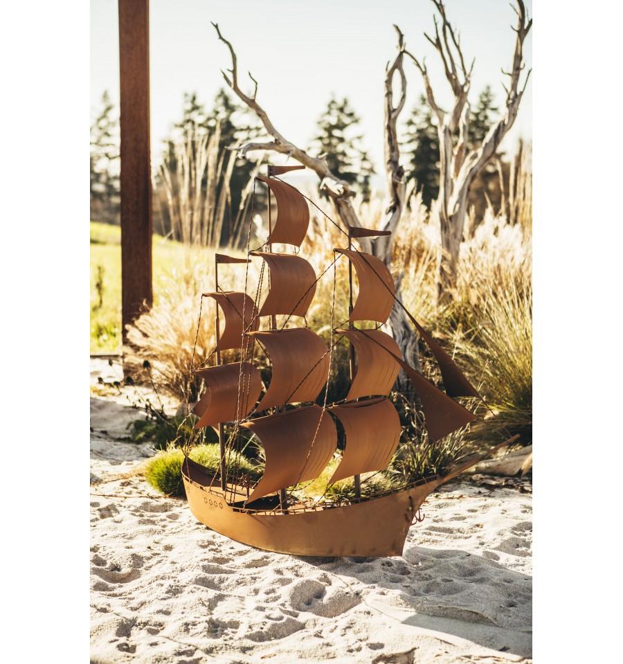 Deko segelschiff aus metall princess h he 125 cm for Gartendeko aus metall