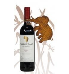 Weinflaschendeko Elefant z.B. für Weine aus Südafrika