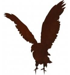 Gartenfigur Adler aus Metall für individuelle Befestigung - 75 cm hoch