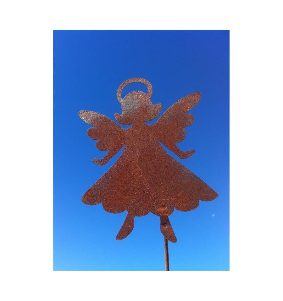 Gartenstecker engelchen tine in edelrost for Engel edelrost