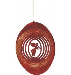 Windspiel Spirale mit Engel D: 18 cm Edelrost-Windspiel