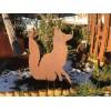 Sitzender Fuchs auf Stab 60 cm