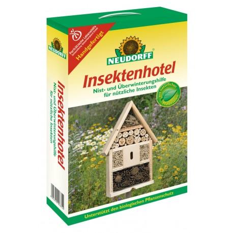 Insektenhotel aus Holz - Überwinterungshilfe für nutzliche Insekten - Deko für den Garten - Insektenschutz