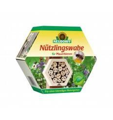 Nützlingswabe für Mauerbienen aus Holz - Insektenschutz