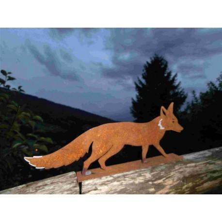 Fuchs Mini - Länge 30 cm / rostiger Fuchs