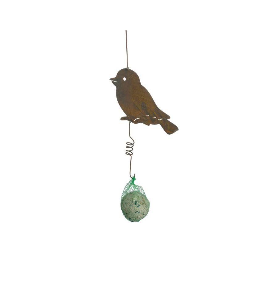 Vogel aus metall inkl meisenk del for Tiere aus rostigem metall