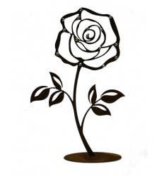 """Deko Rose""""groß"""" mit Glitzer-Steinen verziert Höhe 25cm"""