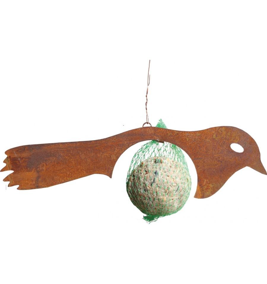 Vogel rost lulu inkl meisenkn del zum aufh ngen for Figuren aus rost fuer garten