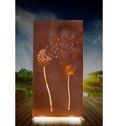 Trennwand Metall Pusteblume - Höhe 180 cm
