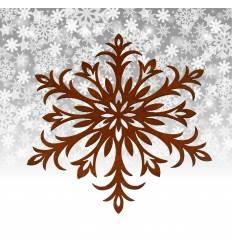 Christbaumschmuck Flocke 6, Ø 20 cm - rostige Schneeflocke