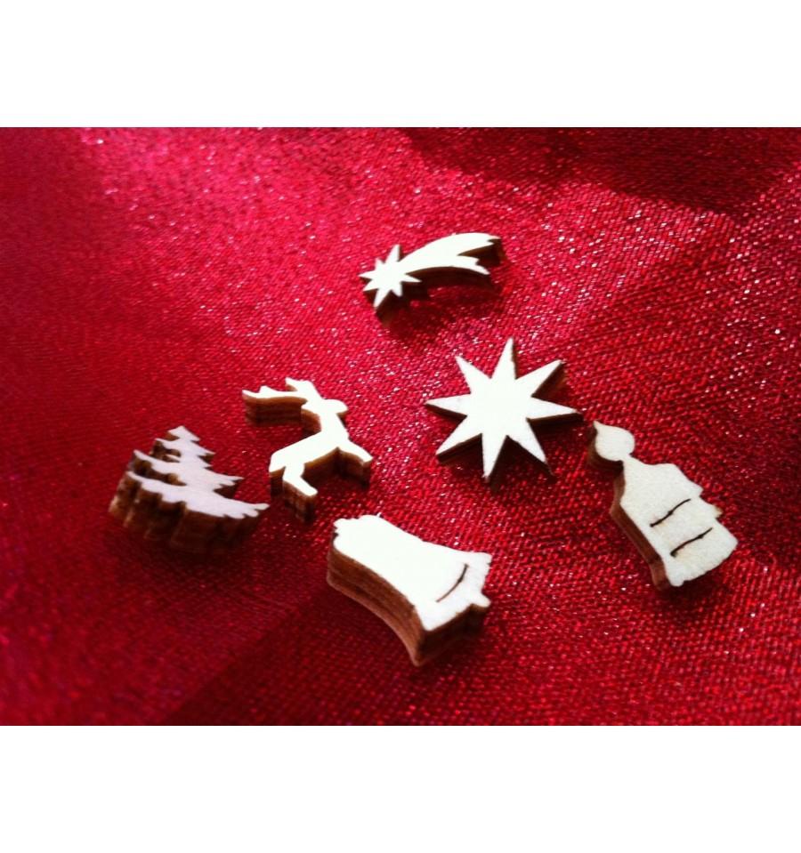 weihnachtsmix tischdeko aus holz metallmichl. Black Bedroom Furniture Sets. Home Design Ideas