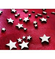 Sternenmix- Tischdeko aus Holz 30 Gramm im Beutel