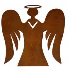 Engel mit Flügel 8 cm hoch Christbaumschuck Edelrost