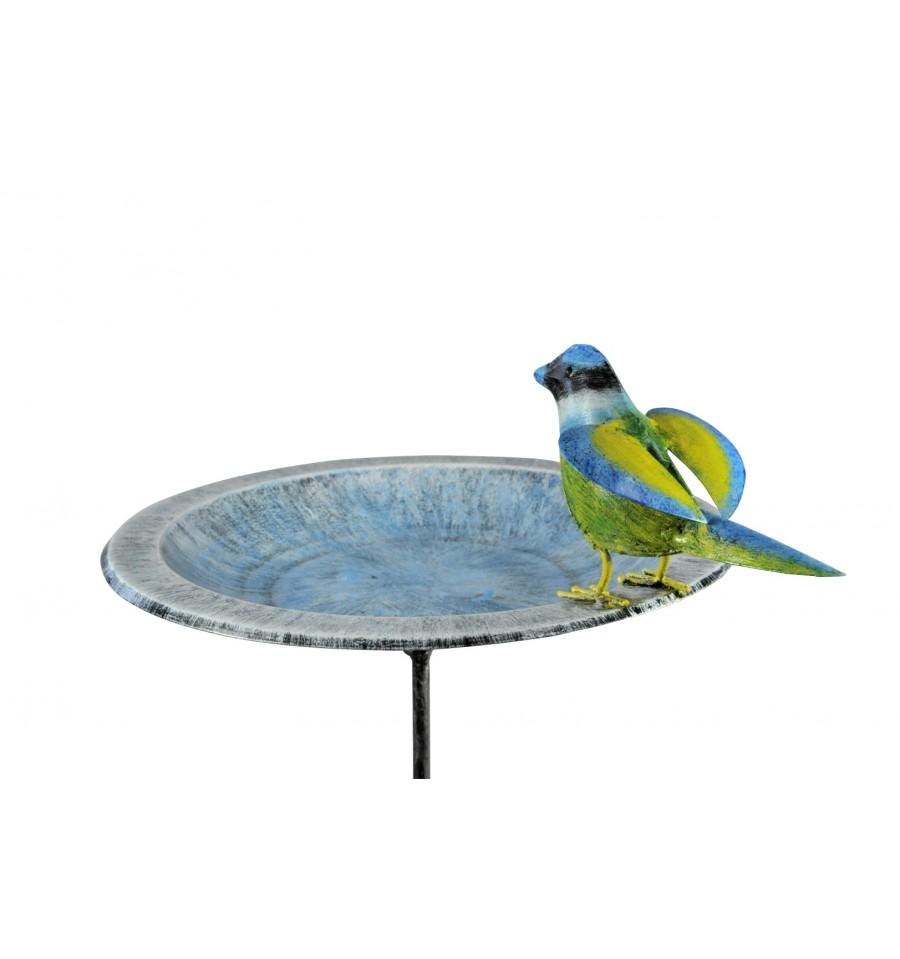 vogeltr nke aus metall mit blaumeise h he 100 cm deko. Black Bedroom Furniture Sets. Home Design Ideas