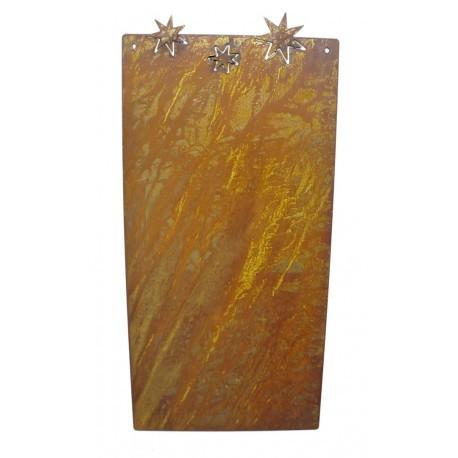 Blanko Rostschild Mittel Motiv 3 Sterne 40 x 20 cm Blechschild