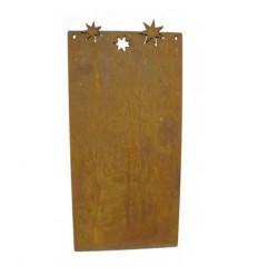 Blanko Rostschild klein Motiv 3 Sterne 25 x 12,5 cm - Blechschild