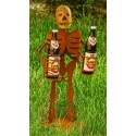 Deko Skelett Halloween mit 2 Getränkehaltern- Deko für Halloweenparty