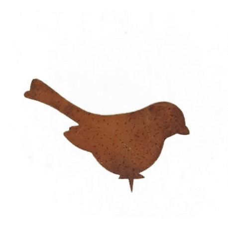 Vogel Dompfaff sitzend mit Baumspieß Höhe 11 cm